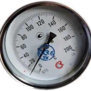 Термометр биметаллический БТ-51.211 (0+200) 60мм, G1/2, 1.6, осевой, показывающий
