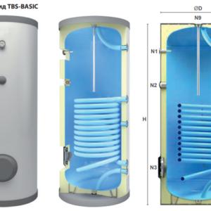 Водонагреватель для гелиосистем, TBD-BASIC 300 л с изоляцией