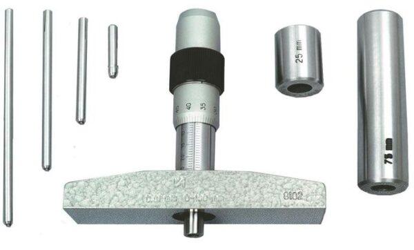 Глубиномер микрометрический ГМ-100 кл.1 с поверкой