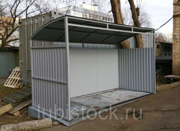 Контейнерная площадка 2-х местная, без ворот. Серия Элит. Д2500xШ1700xВ2200мм.