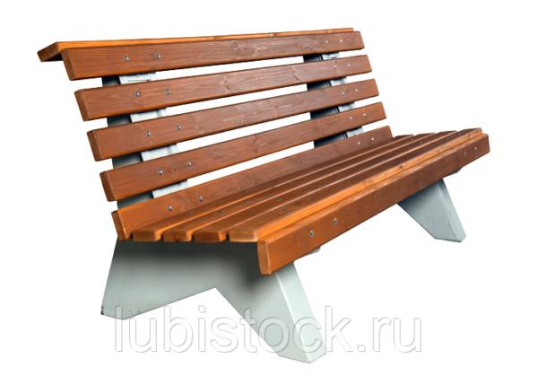 Скамейка бетонная со спинкой Диван