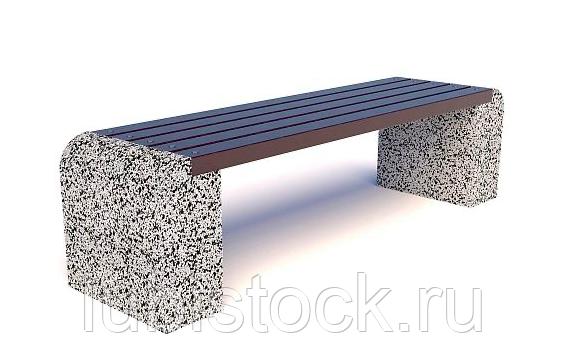 Скамейка бетонная уличная Евро 1 без спинки