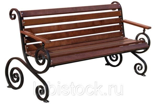 Скамейка Лоза с подлокотниками 2,0м.