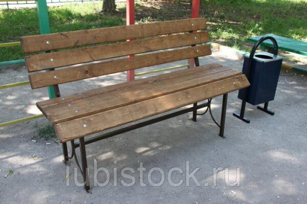Скамейка со спинкой Комфорт 1,5 м.