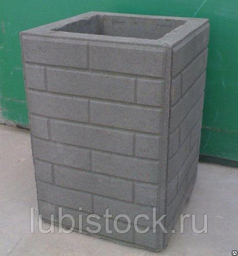Урна уличная бетонная Кирпич 7.4